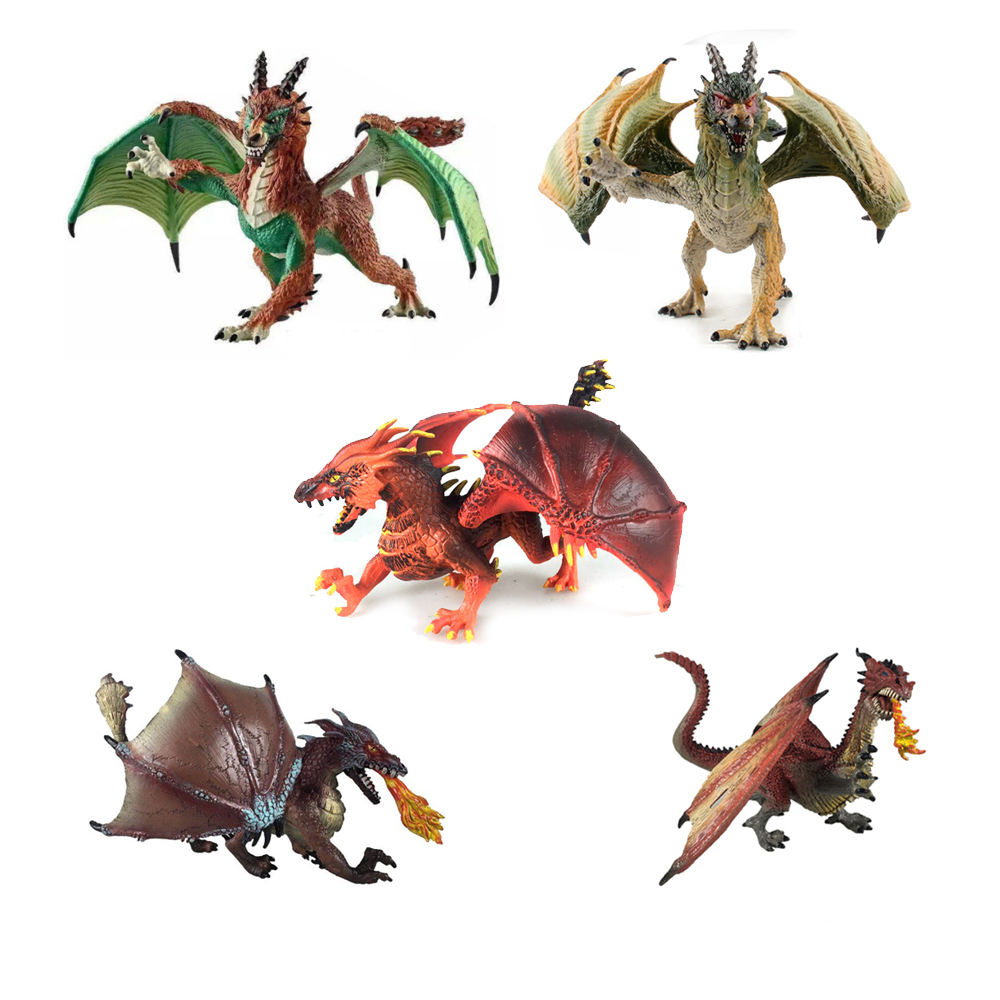 Wholesale table decoration juguetes solid plastic toy dragon