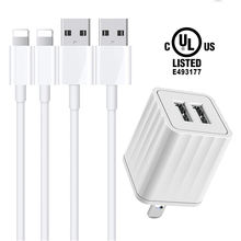 top seller 2020 10w Universal Portable android Cell Phone chargeur dual USB ul certified usb wall charger for iphone charger