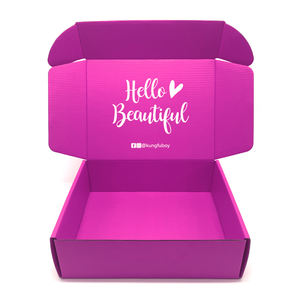 Custom Logo Corrugated Paper Purple Eyelash Lip Gloss Eye Shadow Shipping Packaging Boxes Empty Lashes Lipstick mailing Lash Box