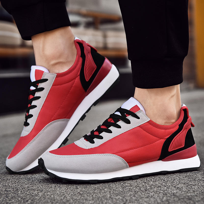 Sneakers Men Running Shoes Leather chaussures homme Outdoor Sport Gym Shoes Comfortable Walking Run Zapatillas