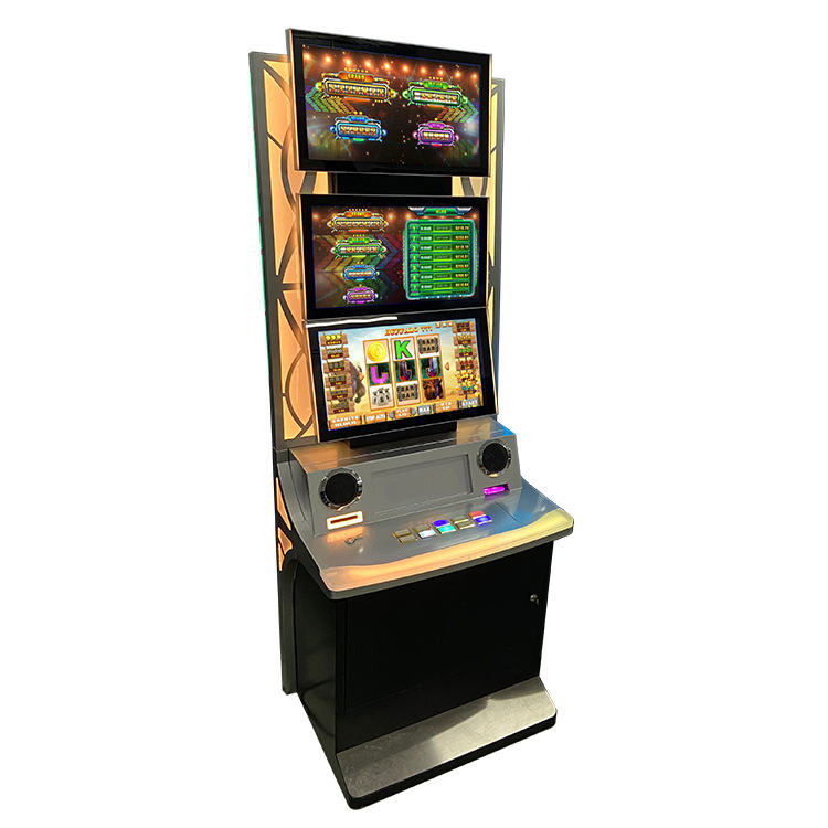 Colorful Lights Touch Screen Slot Machine Cabinet Casino Game With Bill Acceptor
