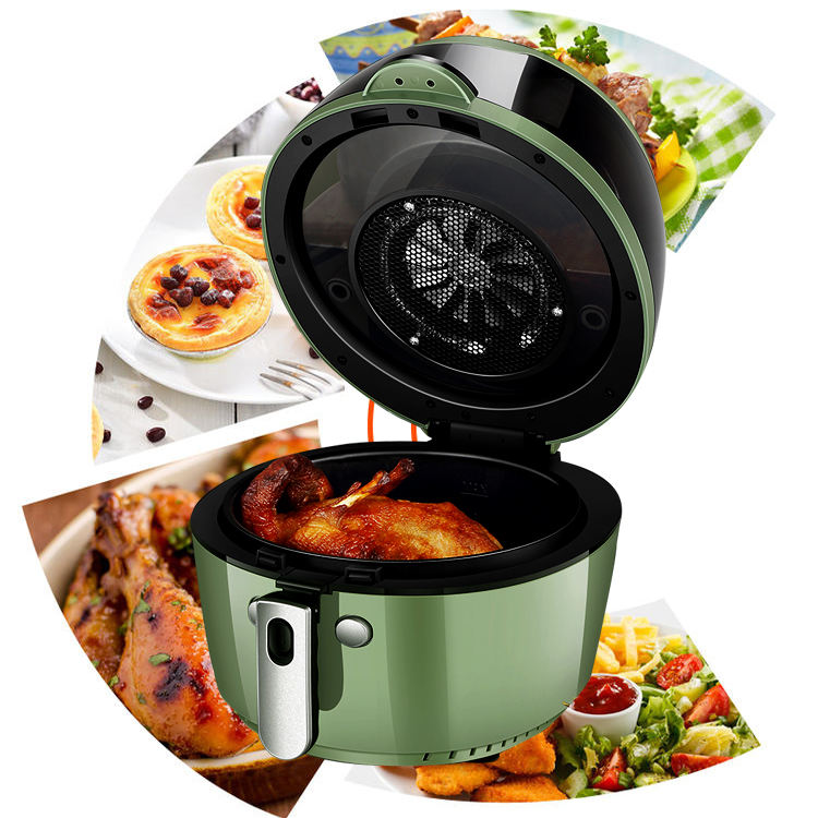 8L 1500W kitchen no oil oilless electric deep digital cooking air fryer oven multifunction grill