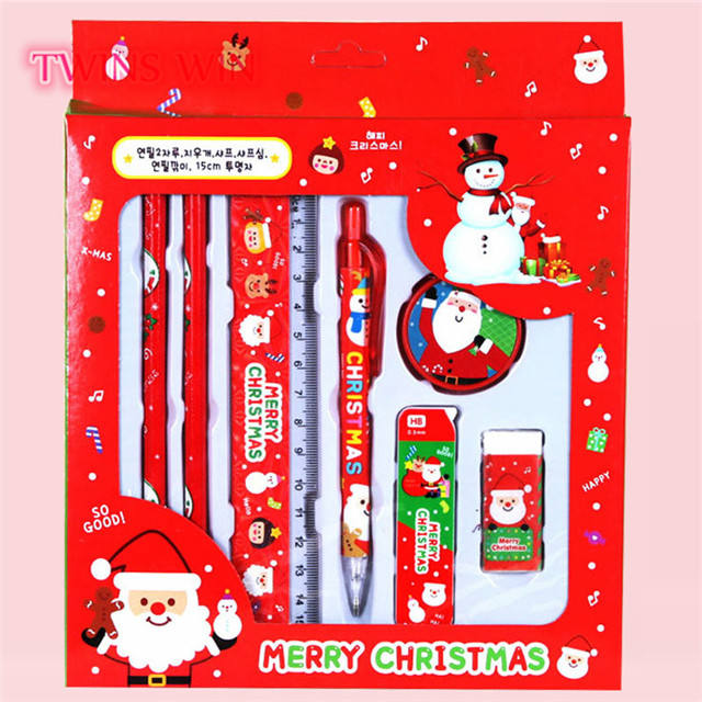 High quality beauty festival kids present school Christmas stationery set kids stationery set Kindergarten Gift 359