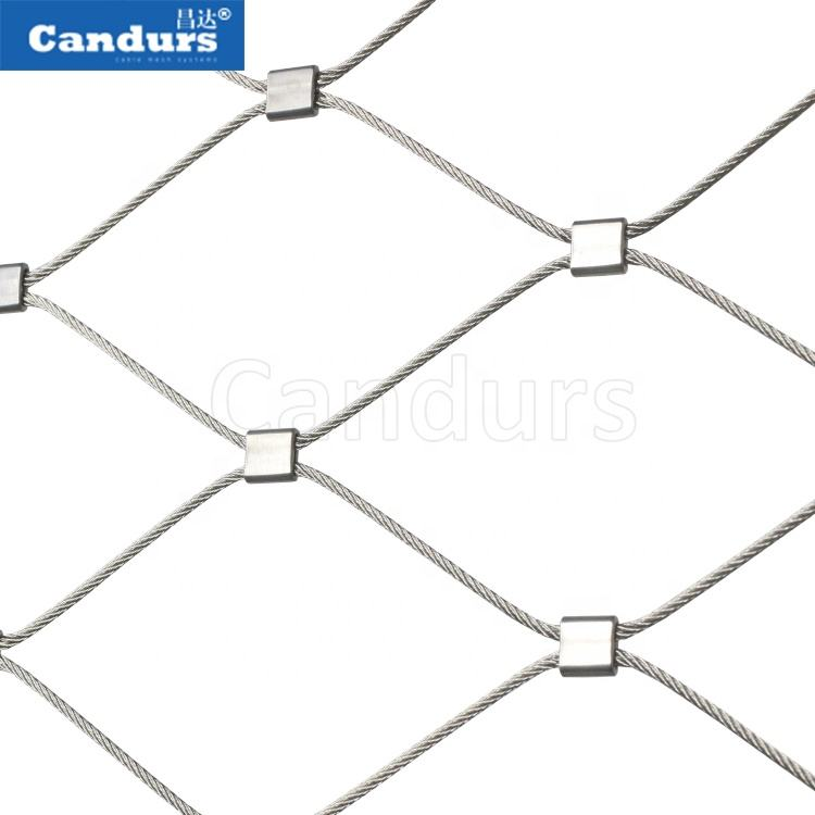 316 Flexible Stainless Steel Wire Cable Rope Mesh Net For Green Wall