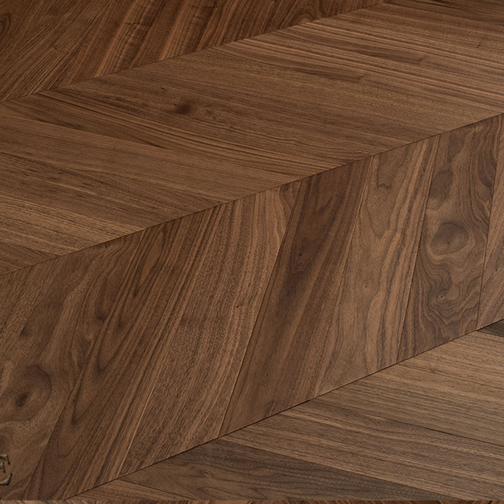 Chinese Manufacturer Offer Solid Grey Black Walnut Engineered Distressed Wood Flooring