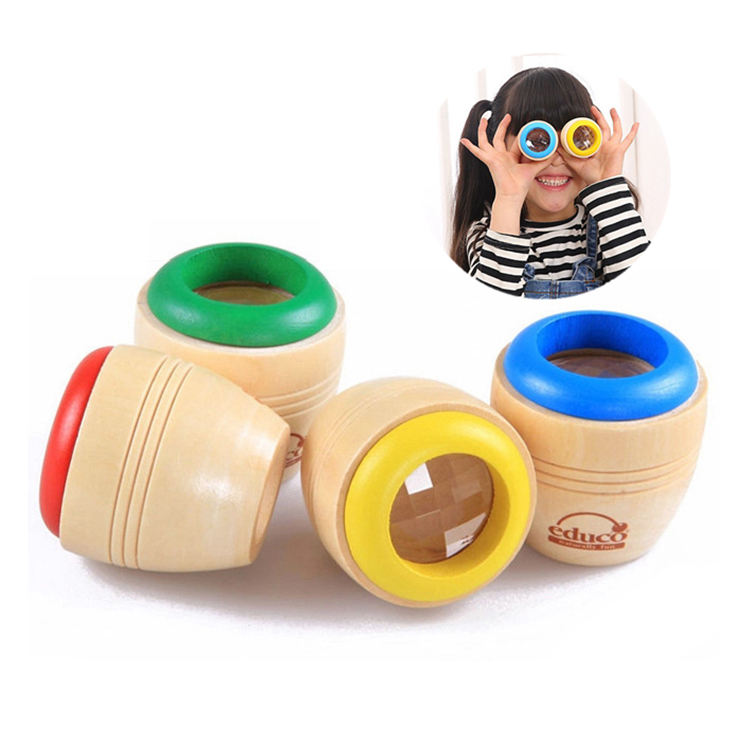 Wholesale New Arrival Wooden Toys Custom Mini Kaleidoscope Toy For Kids