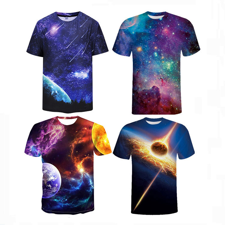5%Cotton 95%polyester blending 3d custom t shirt printing sublimation printed men t shirt