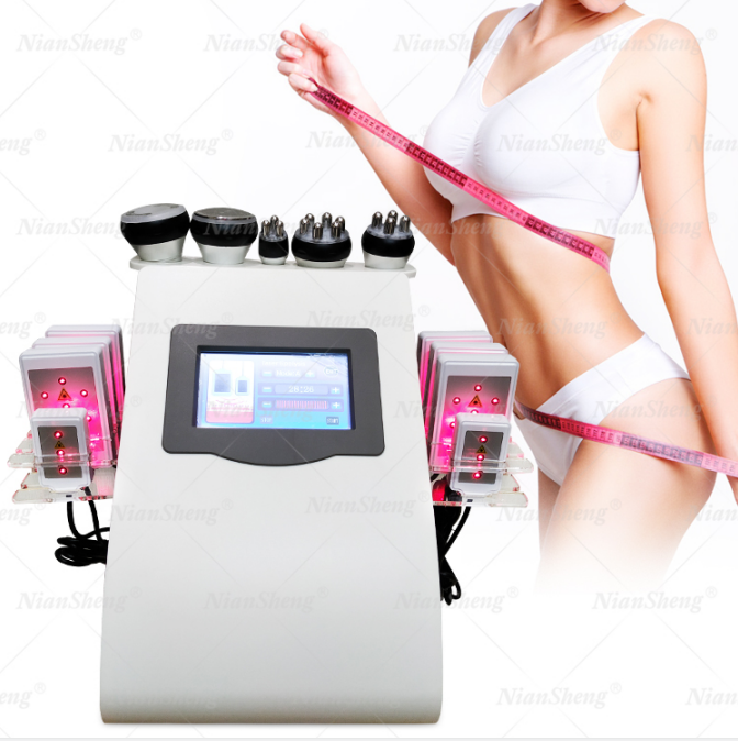2021 Hot sell Vacuum 40K Cavitation rf body slimming Ultrasound 6 in 1 weight loss lipolaser beauty machine