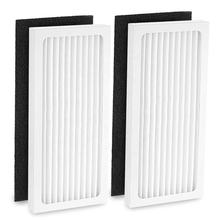 2 HEPA with 2 Carbon Filter Compatible with Hamilton Beach 04383 Air Purifier 04384 04385 HEPA Filter Replacement