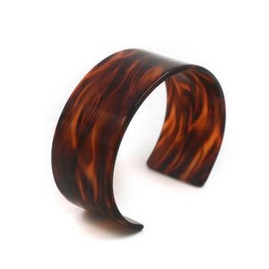 2020 Popular Tortoise Shell Bracelet Cellulose Acetate Thick Bangles Cuff Bracelet For Women