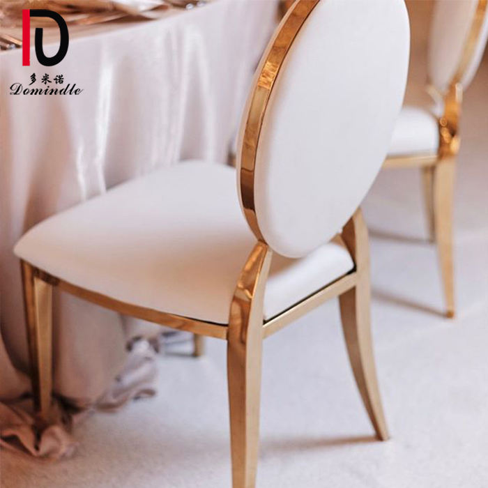event rentals dining chair gold round back wedding stainless banquet