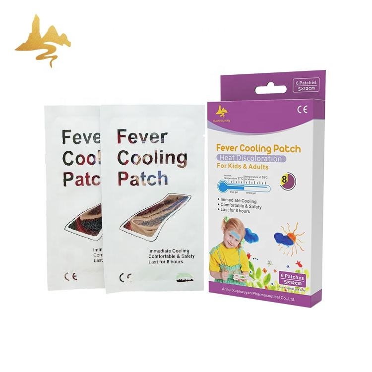 Bestseller Temperatuur Verminderen Cool Patch Baby Koude Koorts Cooling Gel Packs