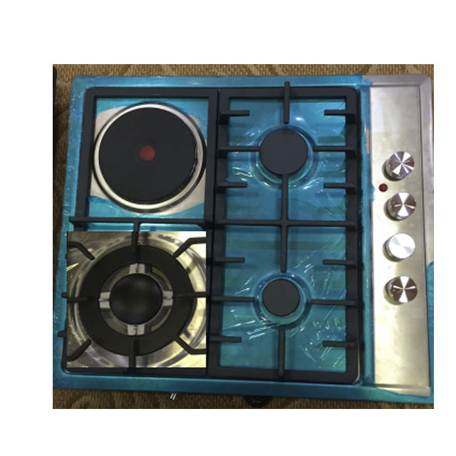 Kitchen appliance 3 gas burner 1 electric hotplate gas hob