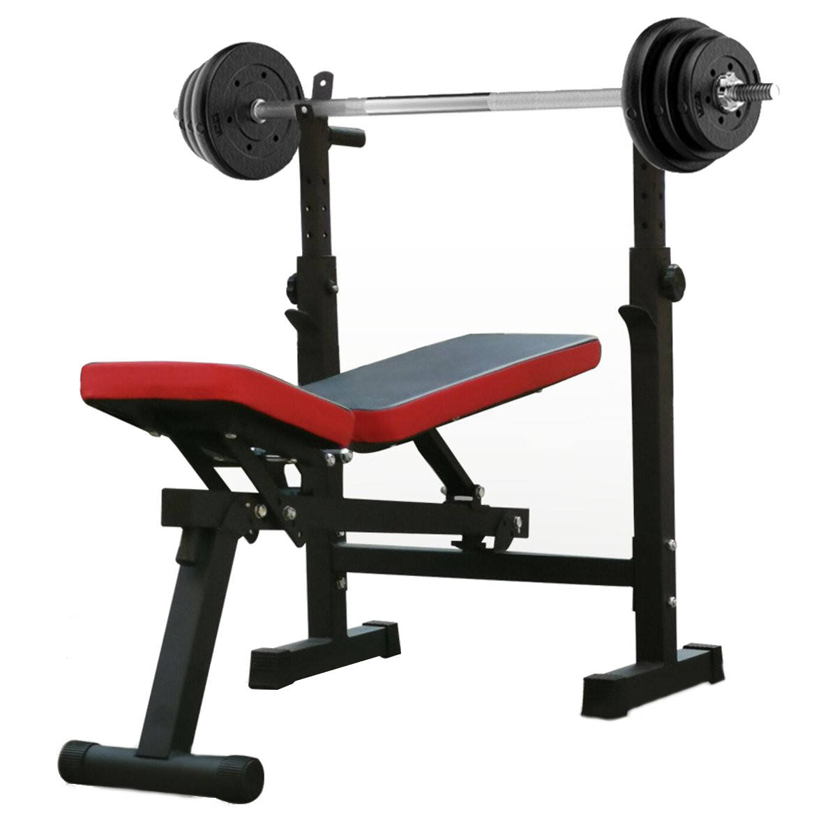Fast Lead-time Adjustable-style Weight Bed Folding Bench Press Squat Barbell Lifting Training Bench Bracket Barbell Rack Weigh