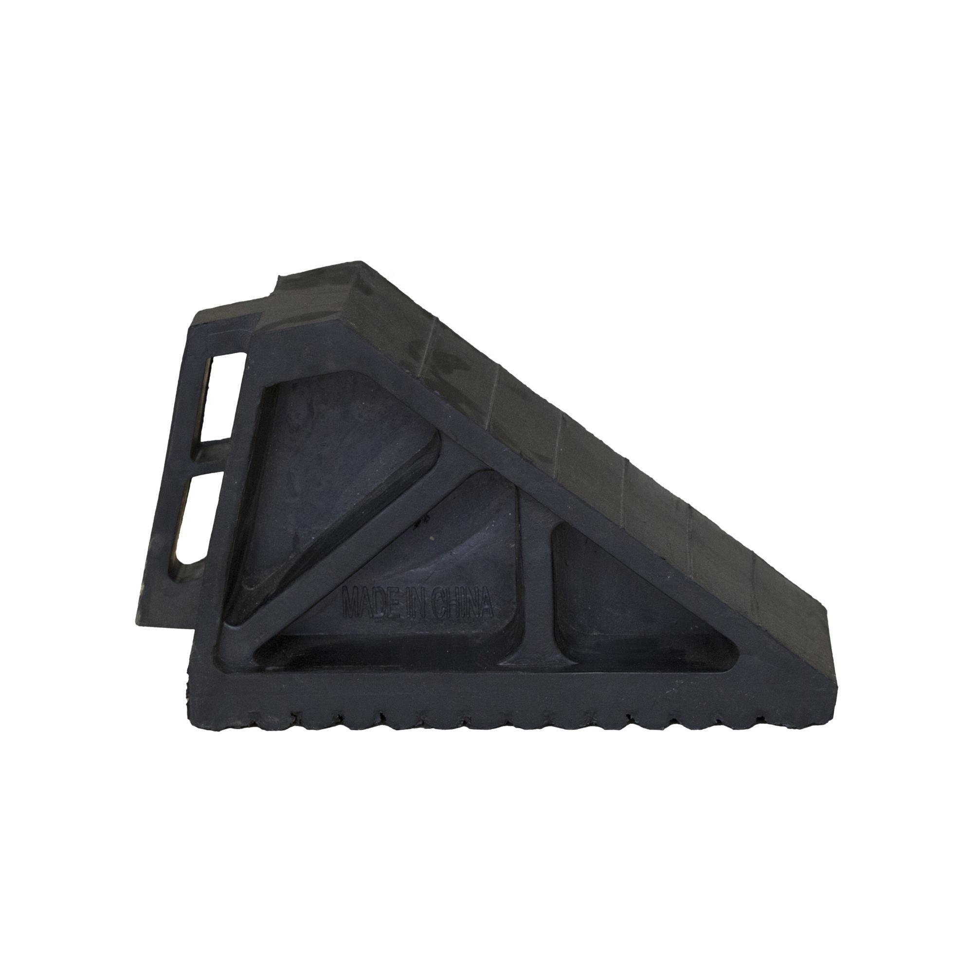 Черный резиновый автомобиль heavy duty wheel chock для грузовиков