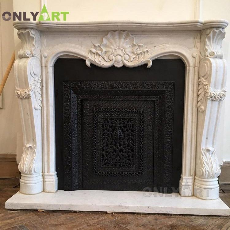 Popular Design Hand Carved decorative fireplace mantles