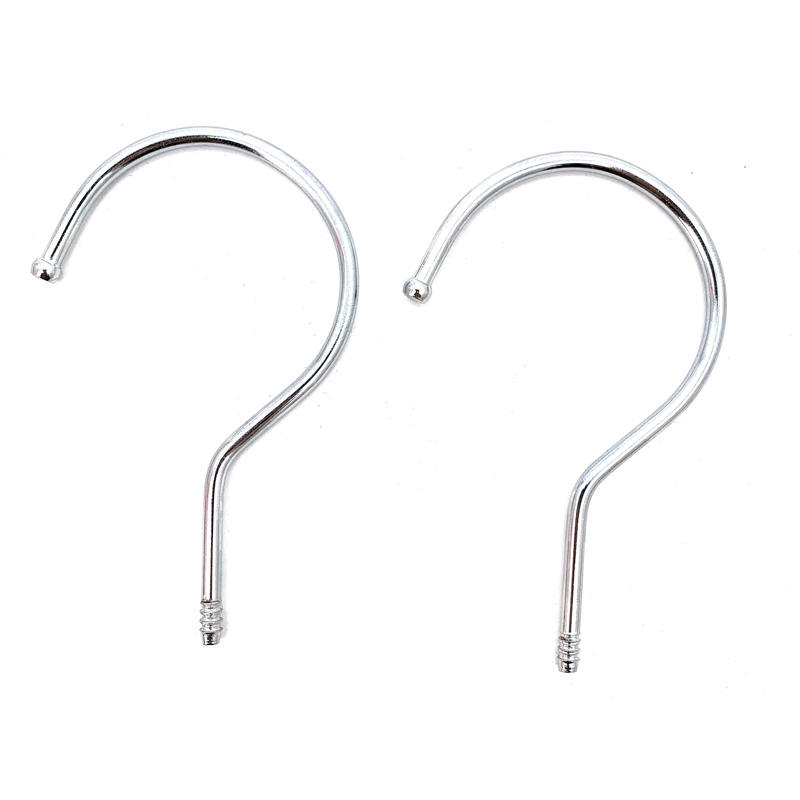 RTS HHanger Metal Chrome threaded Hooks for Wooden Plastic Clothes Hangers 500pcs
