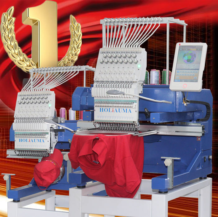 3 Years Quality Warranty HO1501N cheap single head computer embroidery machine prices sequin hat t-shirt flat embroidery machine