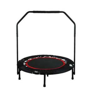 40 Inch Mini Folding Trampoline Fitness Workout Rebounder Children Trampoline for kids with Adjustable Handrail Angle