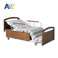 2019 Hot sales  multi-function electric ultra-low wooden nursing hospital bed