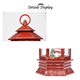 Led Light Plastic Snow Globe Christmas Craft Decoration Claus Red Clap Gold Hexagon Bell Inside Christmas Santa Lantern