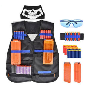 Kids Tactical Vest Equipped with Nerf Gun Attack Elite Series Nerf Accessories Set