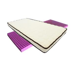 Elegant dreams compressed foam bed Brocade fabric encased pocket spring purple hybrid bed mattress