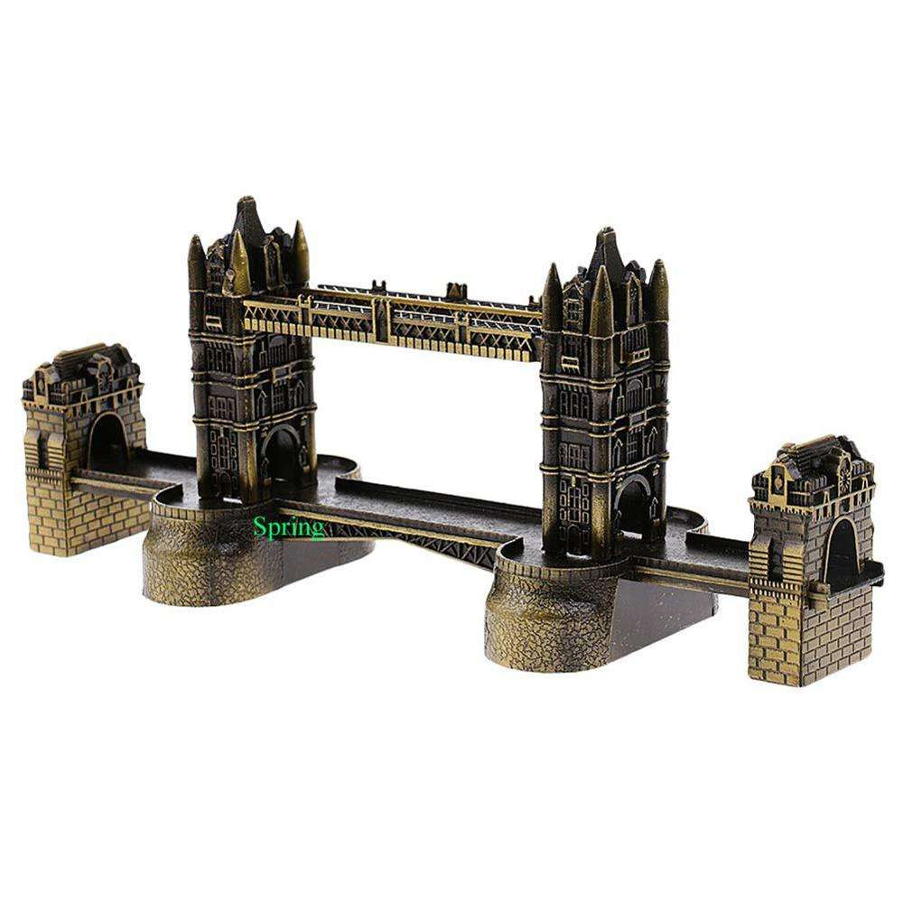 NEW London Tower Bridge Statue Retro Metal Building Model London Bridge Figurine Decorative Iron Souvenir Crafts