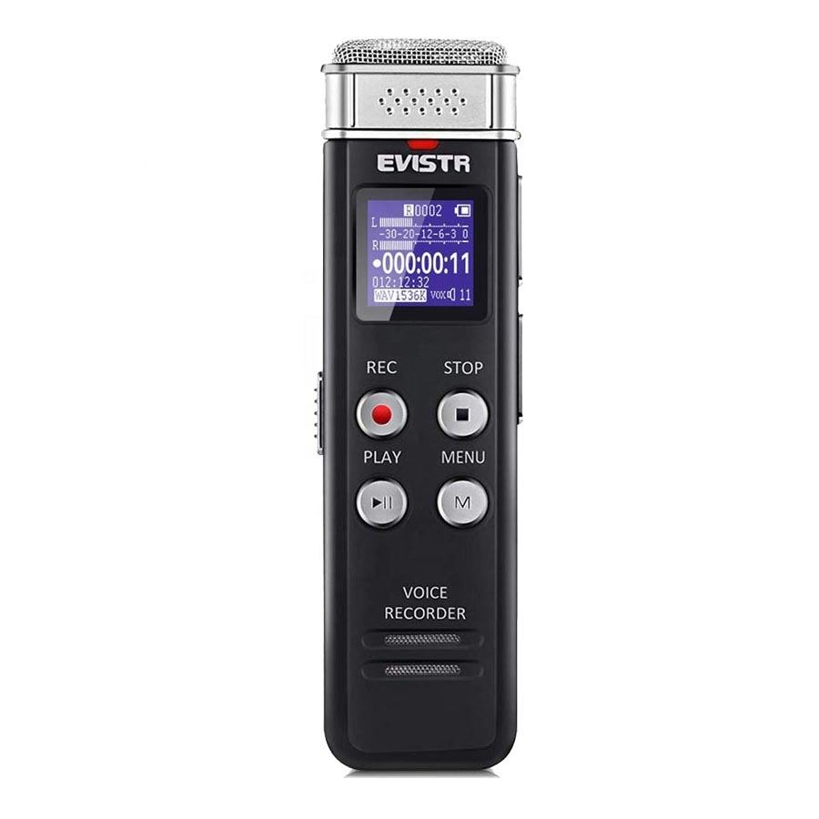EVISTR Amazon Best Seller Voice Recording Device 8GB 16GB Voice Activated Digital Sound Recorder