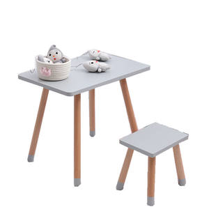 High Quality Kids Table and Chair Kindergarten Toddler Square Desk Children Home Furniture Set