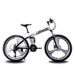 Mountainbike factory supply 26 inch 21/24/27 speed double disc brake folding mountain bike bicycle