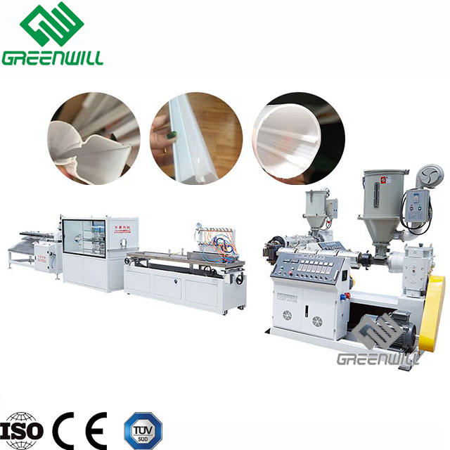 PC ABS PMMA plastic LED lamp shade production line/pc profile tube light making machines/extruder