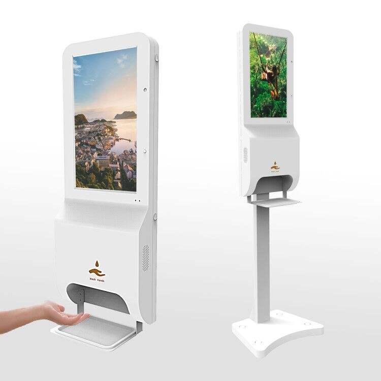Stand-alone smart display a cristalli liquidi di pubblicità informazioni chiosco supermercato split screen piccolo digital signage