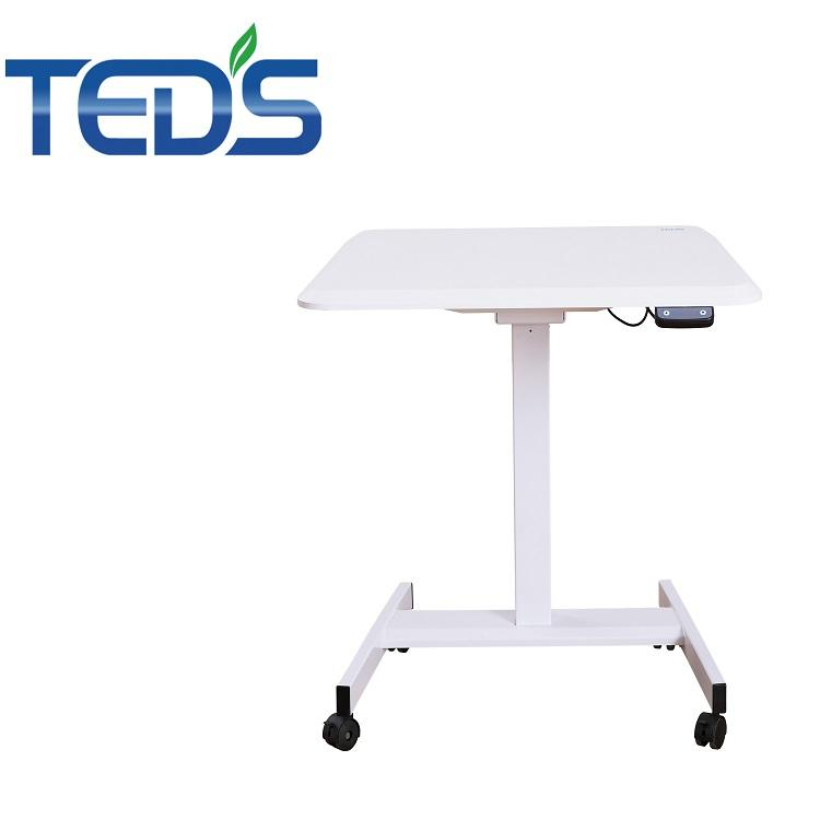 Electric adjustable height sit to stand laptop table/office table with wheels