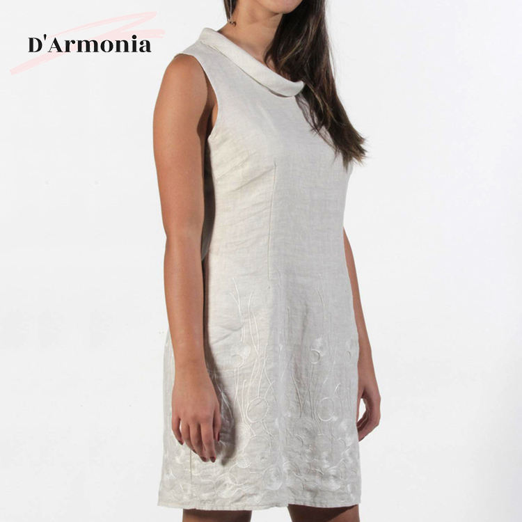 Best Selling Custom Popular Ladies Nice Sexy Summer Spaghetti Dress Linen