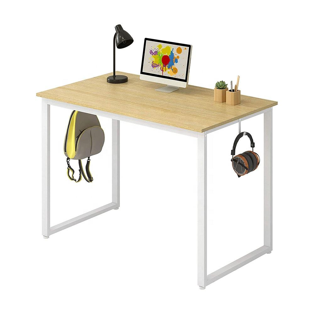 China Home Furniture Portable Pc Table For Malaysia Market Maple 2 Shelf Computer Desk