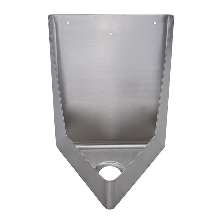 Bathroom stainless steel wall hung corner used urinals