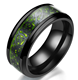 Fashion New Jewelry Dragon Pattern Carbon Fiber Titanium Steel Ring for Men