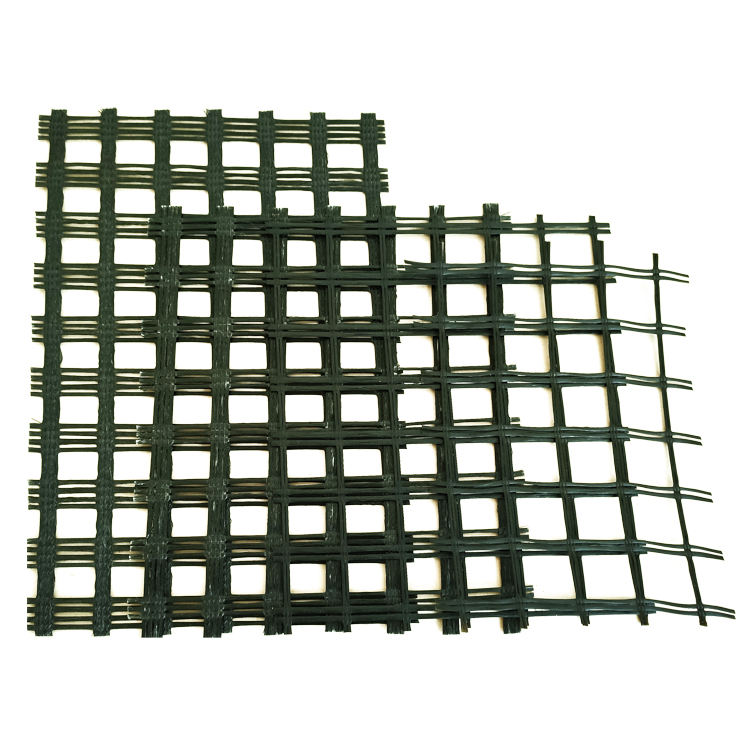 High quality biaxial fiberglass mesh geogrid asphalt pavement