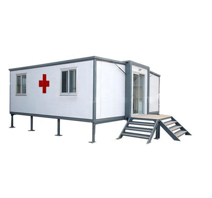Medical Clinic Clinic Flat Pack Container for Isolation Room Isolation Sale White OEM Customized Pvc Box Glass Time Outdoor ROHS