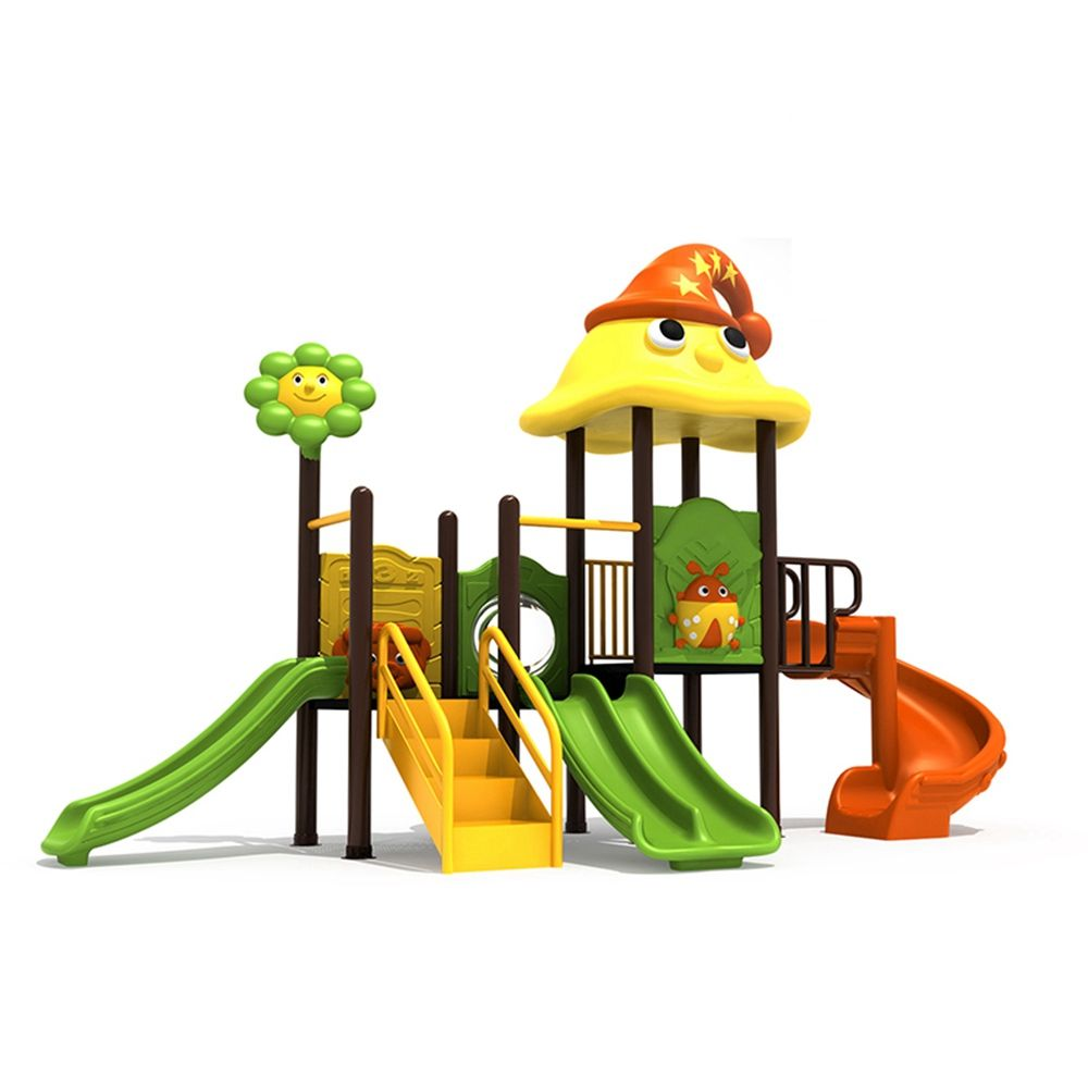 Top Quality Funny Natural Church Plastic Children's Outdoor Play Yard With Swing