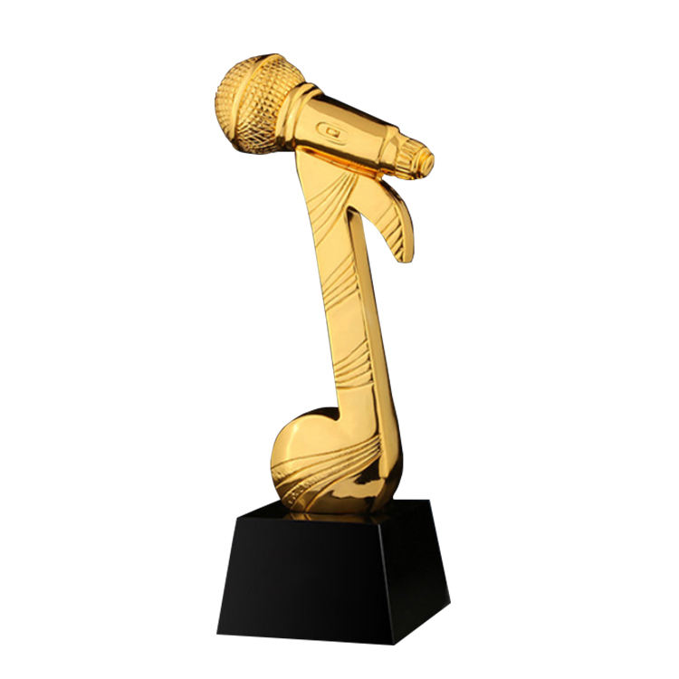 Custom award trophy resin singing trophy souvenir