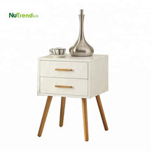Wooden bedside nightstand side table with 2 drawers design
