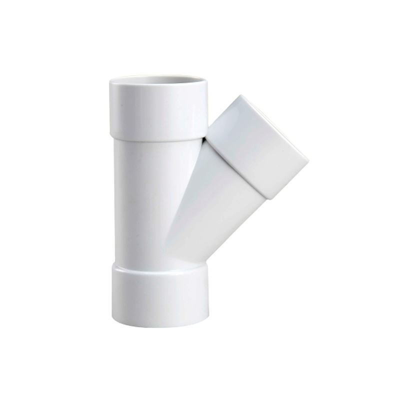 SAM-UK UPVC AS/NZS 1260 DRAINAGE WATERMARK TEE WHITE F/F plastic pvc connection y shape pipe house fittings