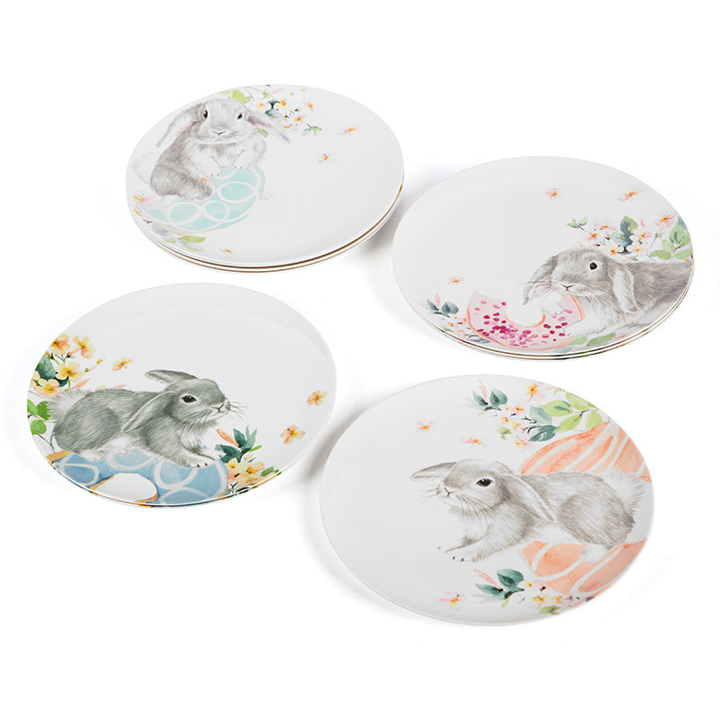 Customized Printing Restaurant Plastic Melamine Plates 10 Inch Round Dinner Plate Sets For Indoor And Outdoor Use