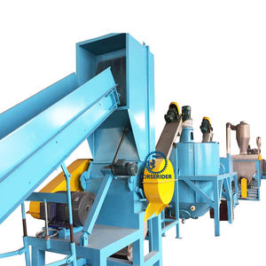 plastic used pet bottles flake recycling dewater machine plant