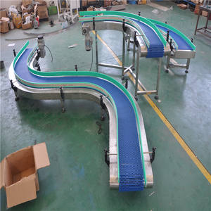 Easy To Clean Flexible Modular Belt Conveyor System For Food Transportation