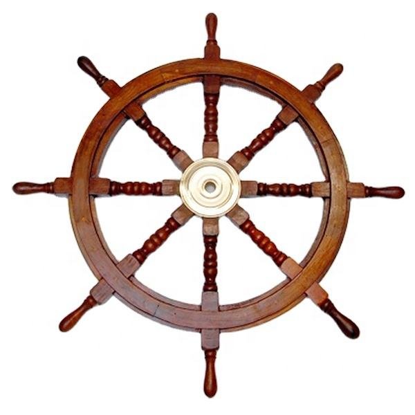 "New 36"" Nautical Mango Wooden Ship wall Wheel Decorative Brass College Farmhouse room and house Decoration"