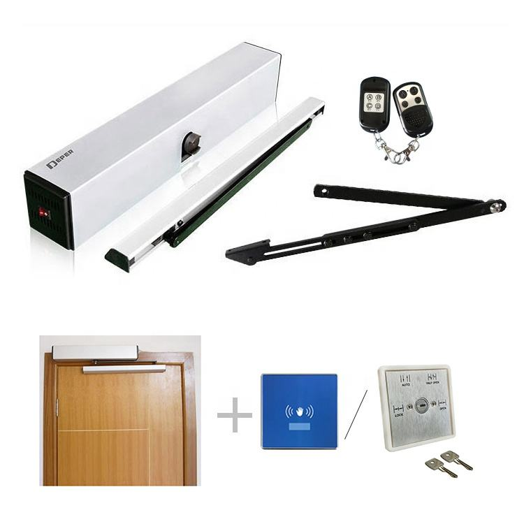 Deper 100kg 50w motor automatic swing door operator for glass or wooden door system/opener