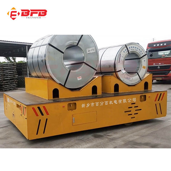 Hot sale 60 ton stainless steel coil steerable battery operated car